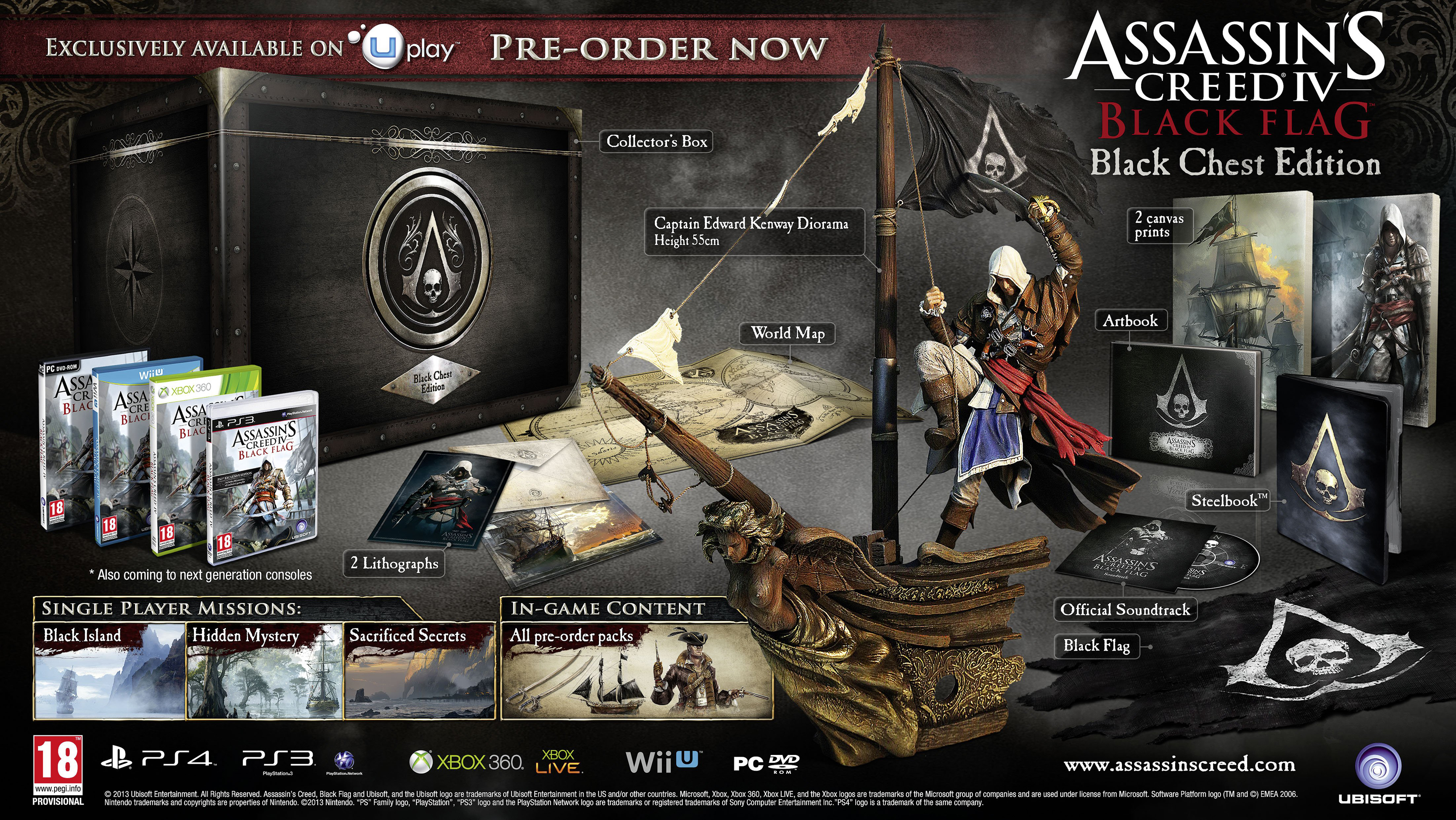 Assassin S Creed Iv Black Flag Collector S Editions Detailed